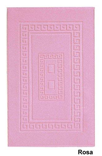 CASA TESSILE Torino Tappeto Bagno in Spugna 60X90 cm. - Rosa
