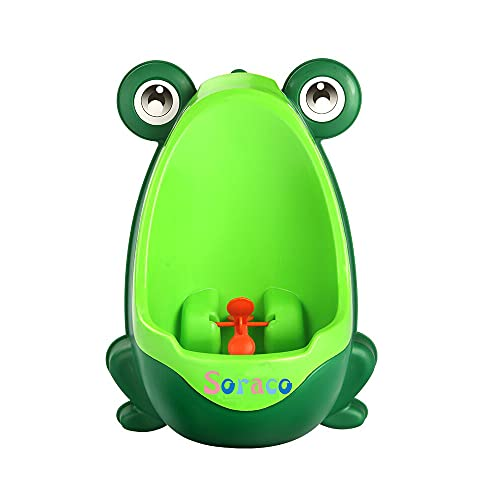 Soraco Frog Potty Training Urinal for Toddler Boys Toilet with Aiming Target-Green
