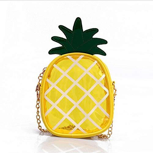 Ba30DEllylelly Tragbare transparente Ananas Small Croos Body Minitasche Spring Summer Bag Single Shoulder Pocket Bag Case für Mädchen