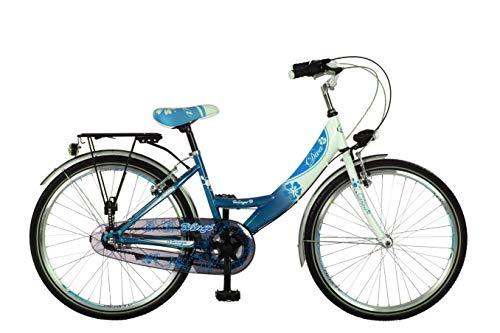 26 Zoll Kinder Damen Cityrad Cityfahrrad Mädchenfahrrad Kinderfahrrad Citybike City Fahrrad Rad 3 Gang Shimano Nexus Nabenschaltung mit Rücktrittbremse Diva BLAU Weiss