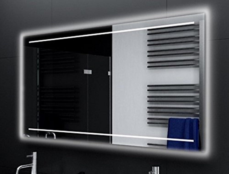 Badspiegel CASORIA Glaswerk24 mit A++ LED Beleuchtung - (B) 150 cm x (H) 80 cm - Made in Germany - TIEFPREIS Technik 2019 Badezimmerspiegel Wandspiegel Lichtspiegel rundherum beleuchtet Bad Spiegel