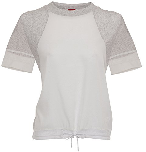 Nike Ss Bonded Damen T-Shirt L Grün/Weiß (Birch Heather/White/White)