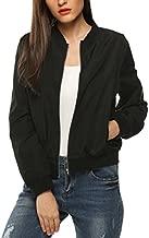 Zeagoo Womens Classic Quilted Jacket Short Bomber Jacket Coat, Black, Small
