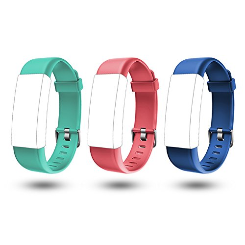 Lintelek TPE Replacement Straps Fitness Tracker ID130PLUS HR (Red/Green/Blue)