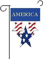 フラッグ 愛国心が強いリバティスターアメリカ国旗独立記念日ガーデンフラッグバナー屋外ホームガーデンフラワーポット装飾用 30 x 45cm