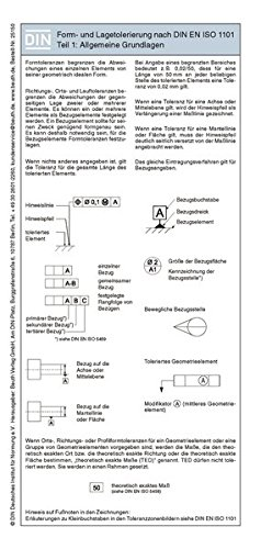 Form- und Lagetolerierung nach DIN EN ISO 1101: Teil 1: Allgemeine Grundlagen Faltblatt mit Auszügen aus der Norm