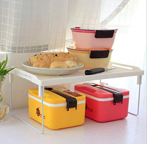 DGJEL 1 STÜCK Küche Lagerregal Kunststoff Falten Aroma Regal Veranstalter für Küche Bad Praktisches Werkzeug, S