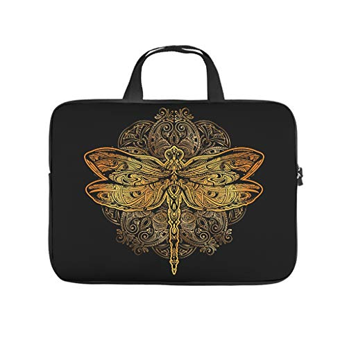Butterfly Mandala Multifuntional High Capacity Laptop Bag with Strap Hand Bag Laptop Messenger Bag for Office School Business Trip for Men Women White 12 Zoll