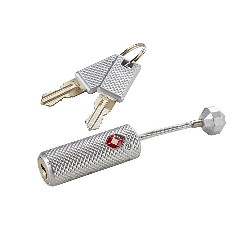 Lewis N. Clark Travelsentry Piston Key Lock, Silver, One Size