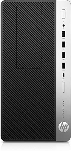 HP EliteDesk 705 G4 Microtower-PC Komplett-PC, schwarz/Silber, Windows 10 Pro