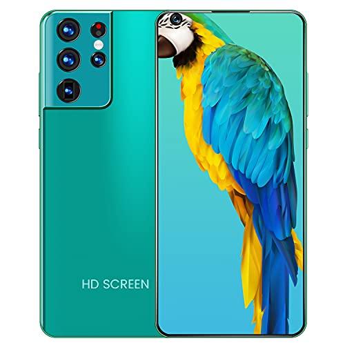 YouthRM Teléfono Celular Desbloqueado, 7.3'HD + Pantalla 12GB + 512GB Teléfono Inteligente 24MP + 48MP Cámara Dual 6800mAh Batería Teléfonos Celulares Desbloqueados S21 Ultra,Blue