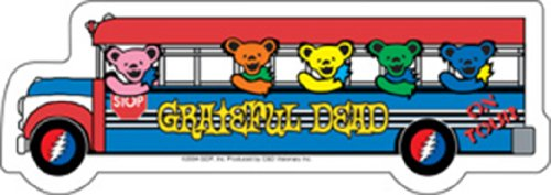 C&D Visionary Licenses Products Grateful Dead Bus Sticker