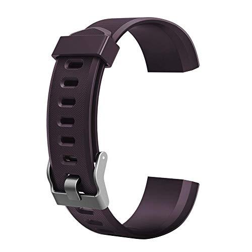 JUNERAIN colorato Metallo di Accessori di Ricambio per ID115PLUS HR Smart Watch Purple