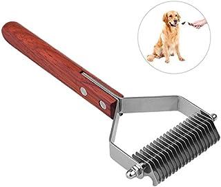 VIDOO Madera Antideslizante Manejar Mascotas Aseo Cepillo Multifuncional Cortanudos para Mascotas Rastrillo De Acero Cepillo De