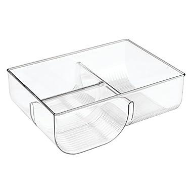 InterDesign Linus Lid Organizer for Kitchen Cabinet, Pantry Storage - Clear