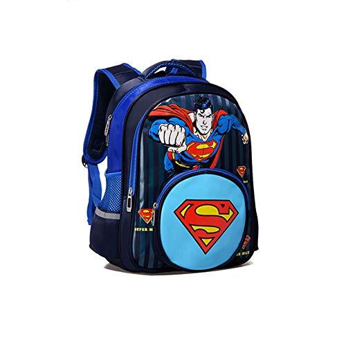 Zaino Bambino XYDBB Ragazzo Ragazza Bambini Kindergarten Scuola Borsa Teenager Schoolbags Studente Zaini 36 * 27 * 16cm Blu M Superman