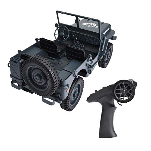 wosume 【𝐒𝐩𝐫𝐢𝐧𝐠 𝐒𝐚𝐥𝐞 𝐆𝐢𝐟𝐭】 2.4GHz RC Off-Road 4WD Military Truck RC Car, RC Off-Road Car, Kids' Electric Vehicles for Kids Boys(Blue)