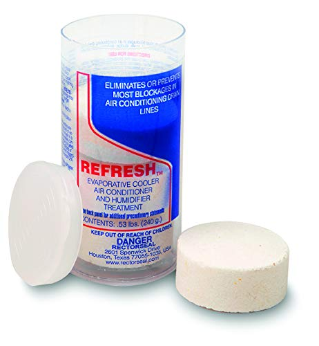 Rectorseal 68114 Refresh Evaporative Cooler, A/C Humidifier Tablets-4 Tablet Tube