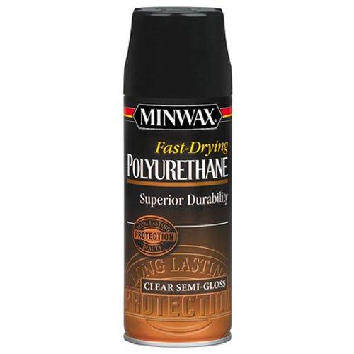 Minwax 33055000 Fast-Drying Polyurethane Aerosol, 11.5 ounce, Semi-Gloss