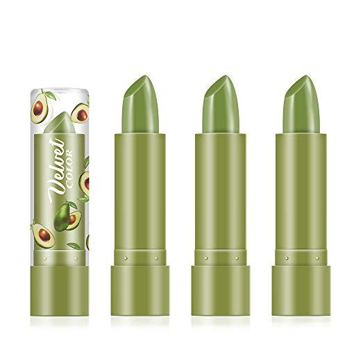 Freeorr 3 Stück Avocado feuchtigkeitsspendender Lippenstift, natürlicher Avocado-Extrakt...