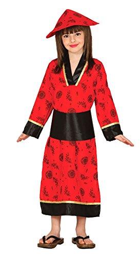 Guirca 83283 Chinesisches Kostüm mit Kleid und Mütze für Kinder von 10-12 Jahren, Rot