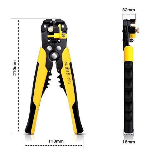DANIU TK0742 Pinces à Dénuder DANIU Dénudage et Sertissage Multifonction Automatique à Réglage 205 mm pour Câble de 0,2-6 mm²