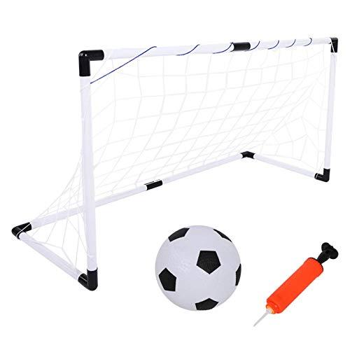 DAUERHAFT Portería de fútbol de Nailon, Ligera, no tóxica, Plegable, Suave, portería de fútbol, Resistente al Desgaste para Interiores, Exteriores, para niños