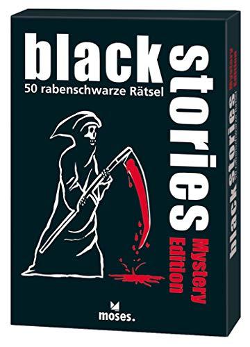 moses. black stories Mystery Edition, 50 rabenschwarze Rätsel, Das Krimi Kartenspiel