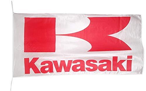 Cyn Flags Kawasaki ROT Fahne Flagge 2.5x5 ft 150 x 75 cm