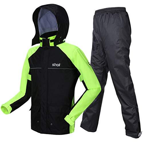 Soul Case Veste de pluie pour homme haute visibilité – Manteau respirant pour homme, haute visibilité, ourlet réglable, imperméable – Idéal pour la marche, la randonnée, le cyclisme, CL