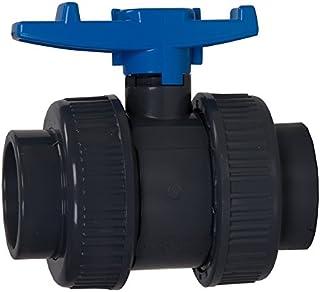 AquaForte AD094 - Válvula de Bola de PVC con Dos Caras Chal Econo-Line, 110 mm, Azul