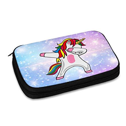 Bolsa de almacenamiento digital multifuncional portátil con patrón de unicornio divertido, bolsa de accesorios de viaje portátil, bolsa de almacenamiento de cargador de cable de datos