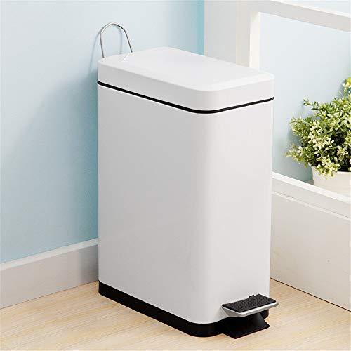 KANGJIABAOBAO Vuilnisbakken Pedaal Bin 10L Vuilnisbak met Deksel RVS Bin Voor Slaapkamer Badkamer Keuken Afval & Recycling