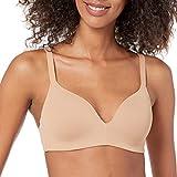 Amazon Essentials Women's Wireless Support Bra, Praline, 34B