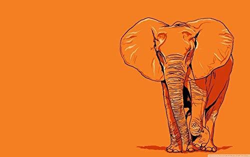 ZDWTXA Rompecabezas de Madera 1000 Piezas Rompecabezas de Madera para niños Adultos Juguetes educativos Elefante Vector Art Decoraciones Casuales para el hogar 50 * 75 cm Regalo de Arte