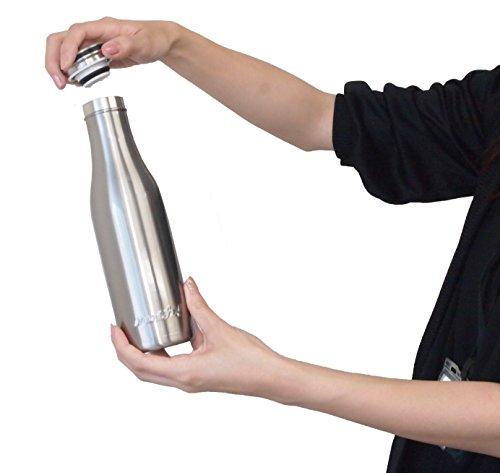 mosh!(モッシュ!)マグボトル真空断熱スクリュー式0.5Lシルバー
