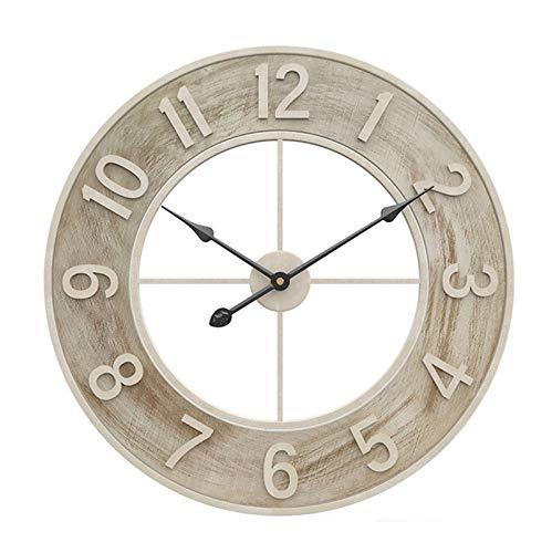 DDHZTA Reloj de Pared 24in / 60 cm, Reloj de Vendimia Moderno...