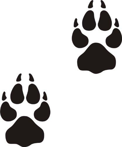 der-pferdeshop XL Hundeaufkleber Hundepfote mit Wunschtext fürs Auto HP1 (25cm)