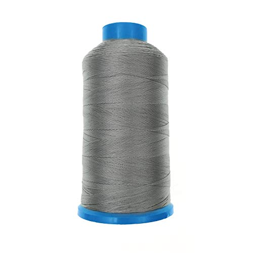 JZK 1500 yardas T70 69 # gris fuerte durable enlazado hilo de coser de nylon para tapicería cuero jeans lona alfombra cortina rebordear para máquina industrial, overlock, costura a mano