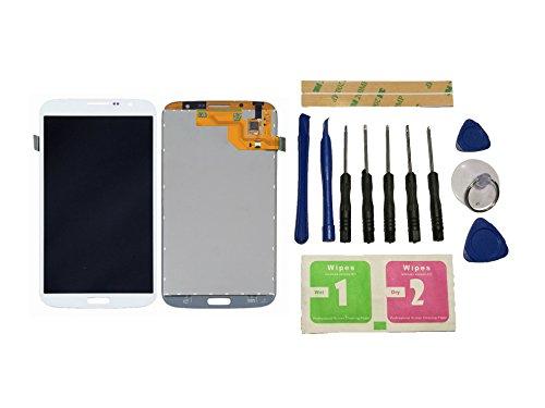 Flügel for Samsung Galaxy Mega 6.3 i527 i9200 i9205 Display LCD Ersatzdisplay Weiß Touchscreen Digitizer Bildschirm Glas Assembly (ohne Rahmen) Ersatzteile & Werkzeuge & Kleber