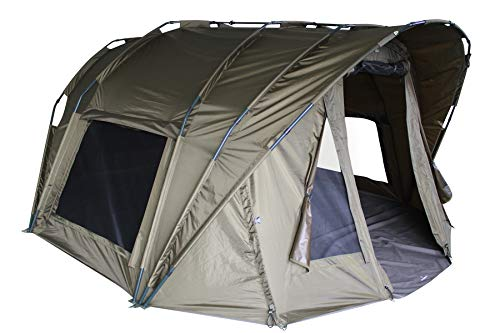 MK-Angelsport Fort Knox Air 3.5 Person Carp Tent Dome Interior Height 1.75 m Tent Fishing Tent Bivvy Including Rubber Hammer
