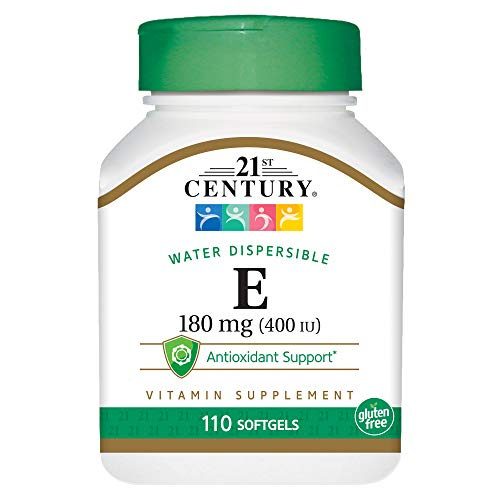 21st Century E 400 I.U. Water Dispersible Softgels, 110-Count