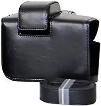 Spachy Camera Case Bag Dustproof Leather Camera Case for Olympus OM-D OM10 EM10 II E-M10 Mark II(Black)