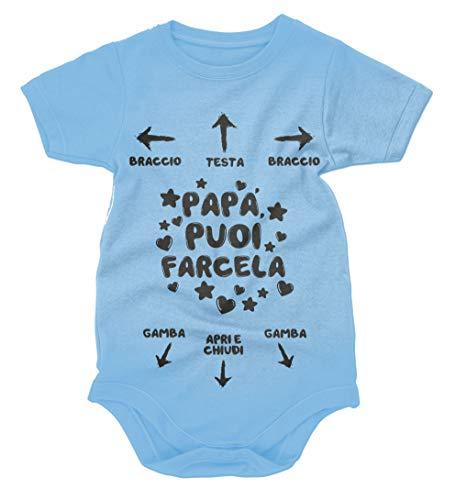 bubbleshirt Body divertido para bebé Día del Padre con texto en italiano