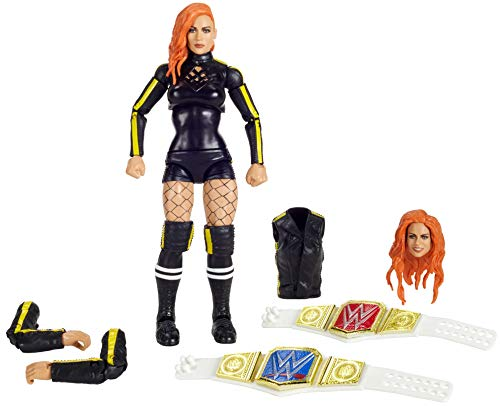 WWE Ultimate Edition Becky Lynch Multiple-Pose 6-inch Action Figure with Entrance Gear, Extra Heads & Swappable Hands
