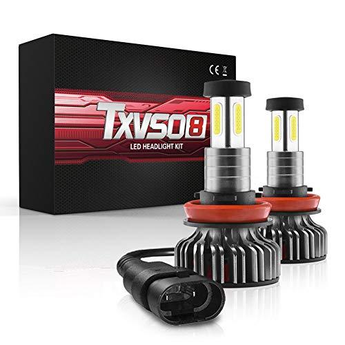H11 H7 Bombillas LED Faro, 120W 30000 Lúmenes Super Brillante LED Faros Kit De Conversión 6000K Blanca Fría IP68 A Prueba De Agua, Paquete De 2