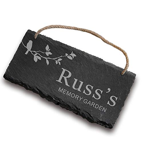 EDSG Slate Garden Signs Personalised Garden Sign Plaques Custom House Signs...