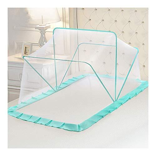 GANG Cuna Mosquito Net Baby Cot Cot Net Safety Pop Up Tent Plegable Universal Bed Net Bed Canopy Nett Net Portable Travel Onet Proteja a Su Bebé de Las Picaduras, Azul, Tela de Sombreado