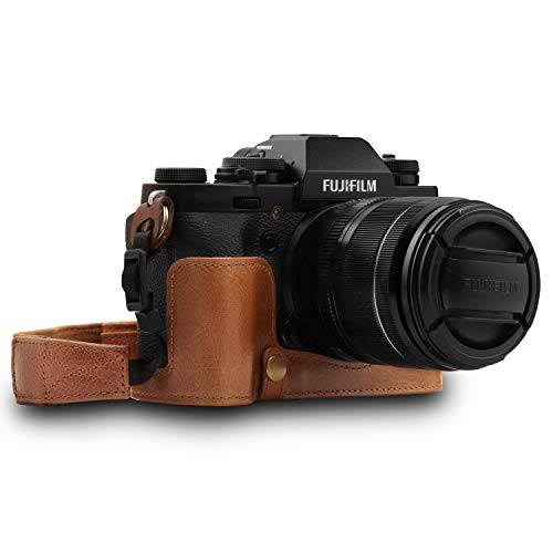 MegaGear Custodia in Vera pelle per Fujifilm X-T3 - Marrone
