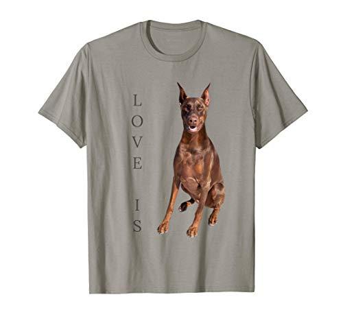 Doberman Shirt Women Men Kids Dog Mom Dad Love Pet Gift Tee Camiseta